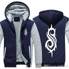 hot new winter coats heavy metal slipknot rock band zipper hooded thick coat men warm hip hop sweatshirts cotton jacket slipknot jacket slipknot hoo