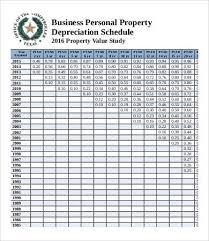 Depreciation Schedule Templates 7 Free Word Excel Pdf