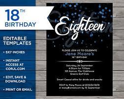 Printable 30th Birthday Invitation Instant Download Cactus