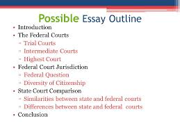 paralegal professional unit project essay on the us court  17 possible essay outline introduction the federal courts