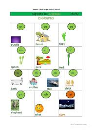 Digraph And Trigraph English Esl Worksheets