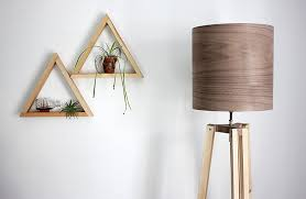 diy wooden tripod lamp with veneer lampshade themerrythought