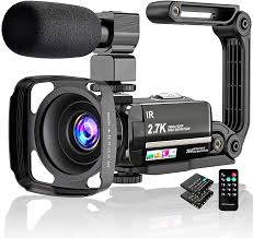 Amazon.com : Video Camera 2.7K Camcorder Ultra HD 36MP Vlogging Camera for  YouTube IR Night Vision 3.0