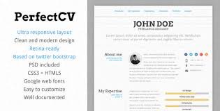 PerfectCV  Responsive, Bootstrap CV / Resume