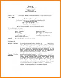 Sample Resume For Pharmacy Technician Resume And Cover Letter