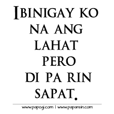 Unhappy Quotes Tagalog Photo