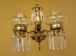 circa 1950 crystal chandelier cut glass shades