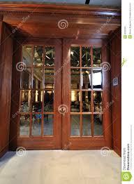 Big Wooden Door In Restaurant Stock Photo - Image: 8032382