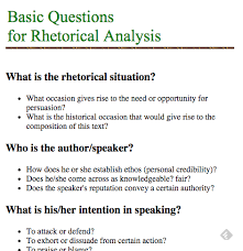 Situational Analysis Questions Basic Questions For Rhetorical Analysis Interactive Notebook Ideas