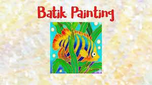 Batik Fish Design Batik Painting How To Paint Angel Fish