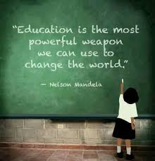 Image result for nelson mandela quote about education