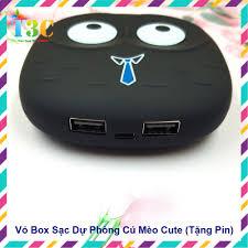 Vỏ Box Sạc Dự Phòng 2 Cell Cú Mèo Cute (Tặng 2 Cell Pin) giá cạnh tranh
