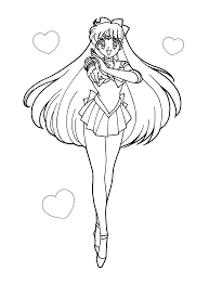 Sailor Moon Coloring Pages Venus