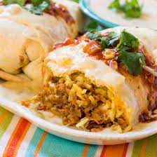 pulled pork burritos with cheesy sour