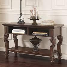 ashley furniture san martin console sofa table in dark brown local furniture