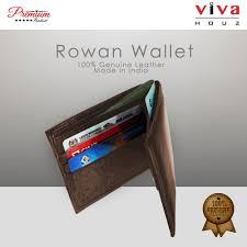 viva houz rowan mens handmade 100 genuine leather wallet credit id card holder