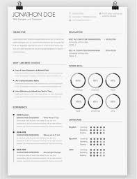 Resume Examples 2014 Template Avada Minimal Resume On Behance