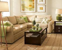 Simple Green And Brown Living Room