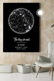April 2017 Star Chart Custom Star Map Arizona Map State Of Arizona Wall Art