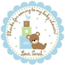 Large Baby Shower Thank You Tags Custom Baby Shower FavorBaby Shower Tag