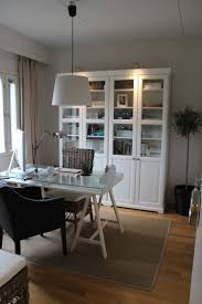 home office decor computer. Fabulous Ikea Office Ideas For Your Home Decor: Glass Top Computer Desk And White Decor