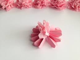 How To Make A Flower Out Of Tissue Paper Step By Step Diy Hanging Tissue Paper Flowers Tutorial Mid South Bride