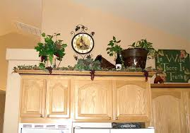 ideas for decorating on top of kitchen cabinets awesome plants top kitchen cabinets of fresh ideas