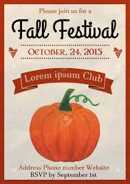 vector vector ilration of fall festival flyer design template decorated with watercolor painted pumpkin