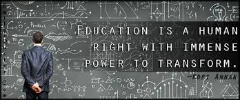Education is a human right with immense power to transform ... via Relatably.com