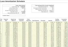 Amortization Table Excel Template Loan Payment Schedule Excel