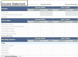 Template Income Statement For Service Company Template