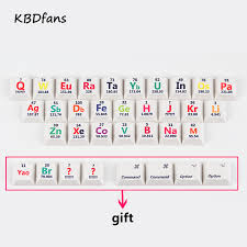 Cherry profile pbt keycaps 26 keys chemical element periodic table ...