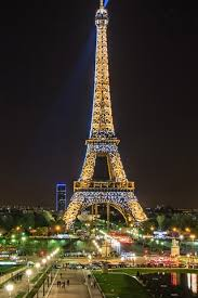 beautiful night view eiffel tower