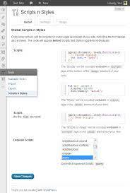 insert javascript into wordpress pages