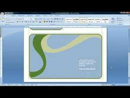 how to create a birthday card on microsoft word how to make a card using microsoft word 2007 youtube