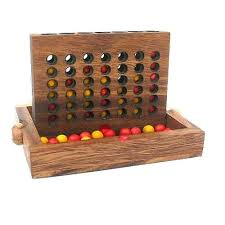 Wooden Strategy Games Connect Four Wooden Strategy Game 45
