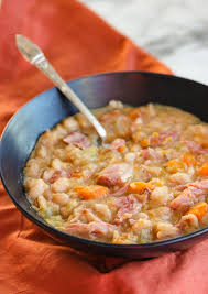 slow cooker ham bone and navy bean soup