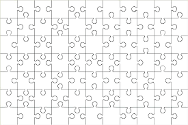 Large Puzzle Pieces Piece Template Jigsaw Design Big For Word