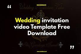 wedding invitation video template free