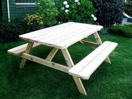 picnic table plans detached benches picnic table with detached benches ft plans wooden redwood foot teak picnic table plans