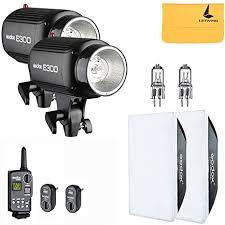 <b>GODOX E250</b> 500W 2x250W Photo Studio Strobe Flash Light Kit w ...
