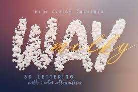 milky way 3d lettering exle image 1