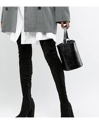 Asos Design Kassidy Heeled Thigh High Boots Asos Design Tall Kassidy Heeled Thigh High Boots