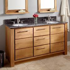Teak Vanity Bathroom 60 Venica Teak Double Vanity For Undermount Sinks Teak