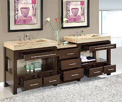 96 inch double sink vanity. 92 inch wide melita double sink vanity excellent value: solid wood frame construction, rigid metal glides, 9-drawers, 2-shelves 96