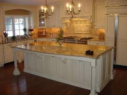 Image Of: White Cabinets Venetian Gold Granite Kitchen Countertops Ideas