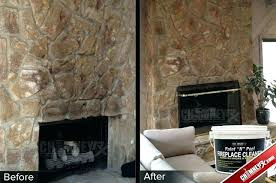 removing stone fireplace smoke stains on a large stone fireplace before and after being cleaned with removing stone fireplace