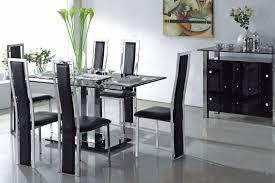 black dining table set modern glass dining room