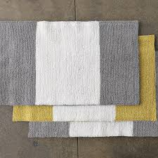 nice yellow and gray bathroom rug gray and white bath rug roselawnlutheran