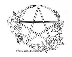 Wicca Kleurplaat Pagina Wicca Kleurplaat Afdrukbare Volwassen Etsy
